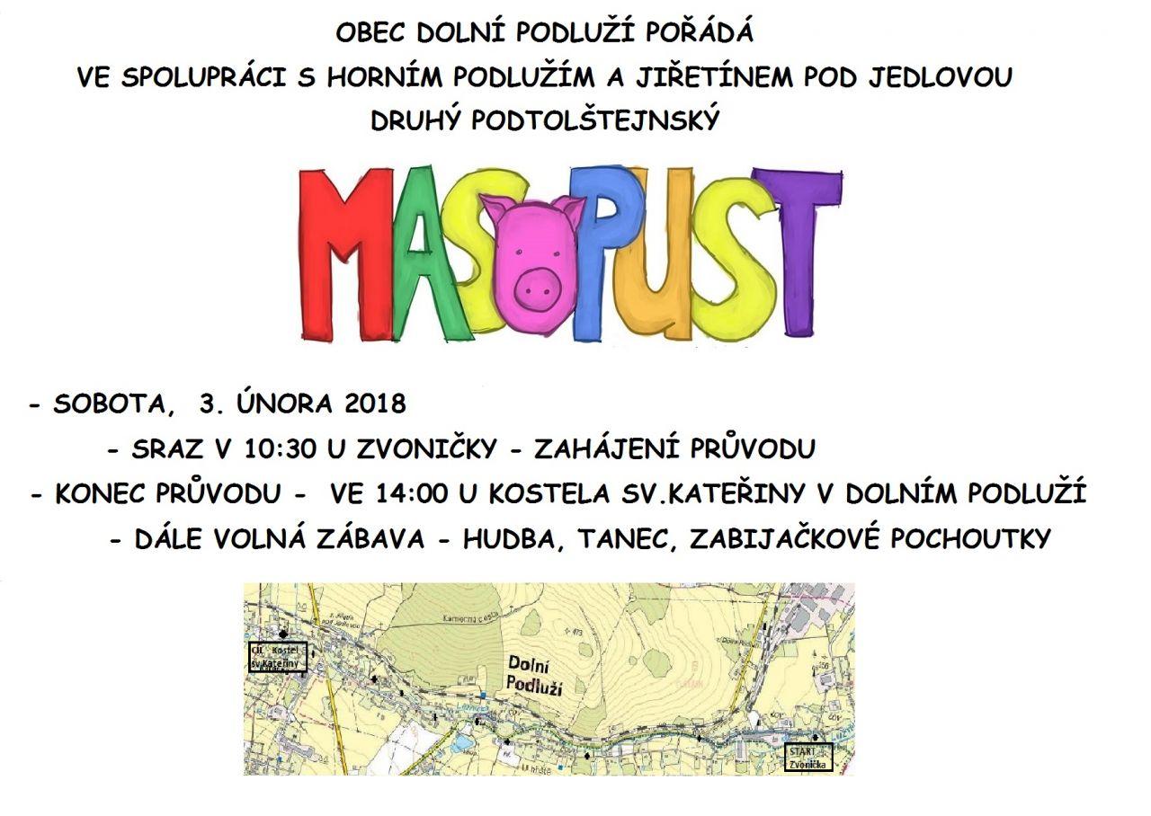 Letáček - Masopust 2018