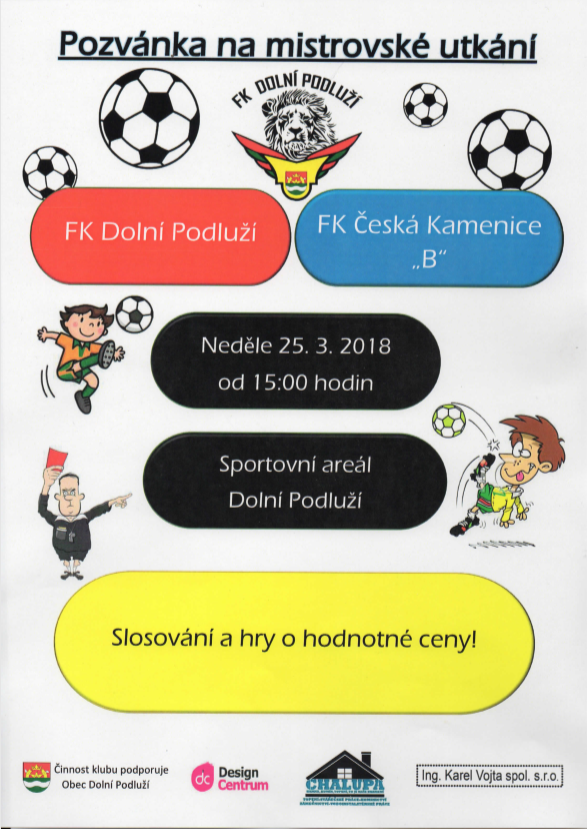 Plakát FK Dolní Podluží x FK Česká Kamenice