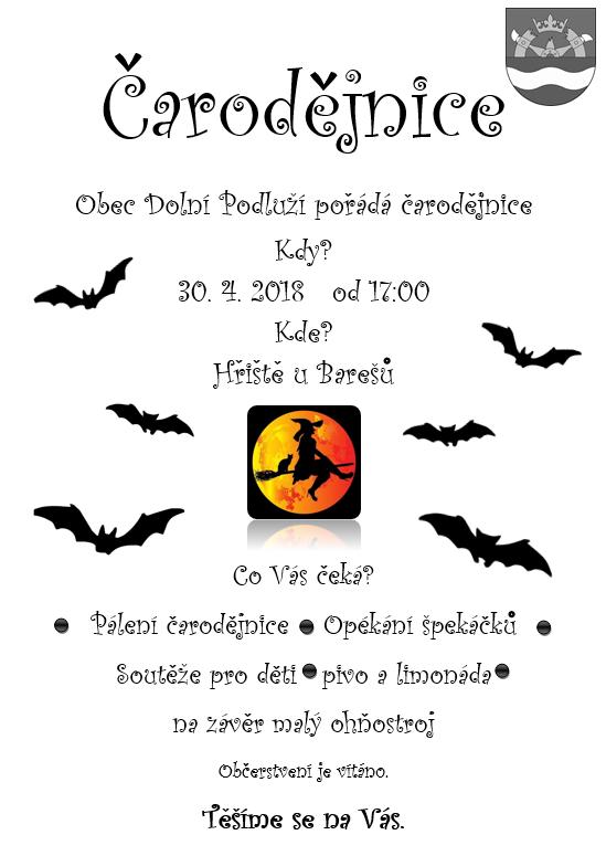 Plakát čarodějnice