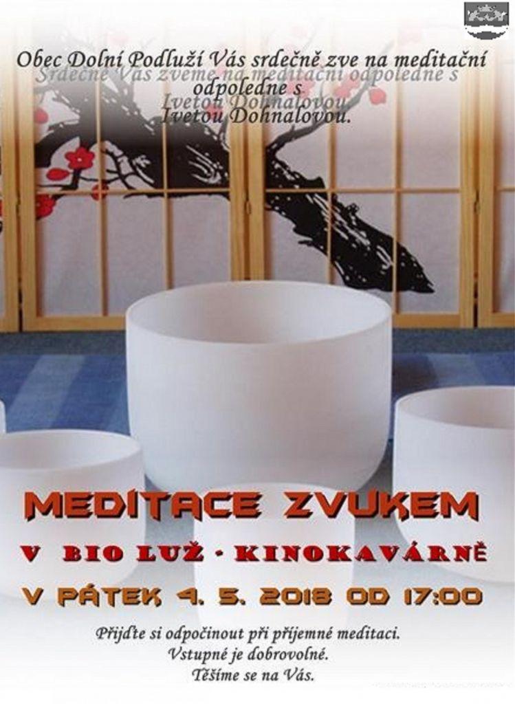 Meditace zvukem - plakát
