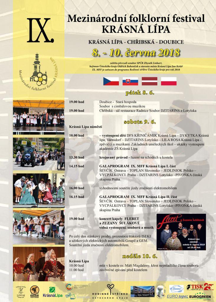 plakát mezinárodní folklorní festival