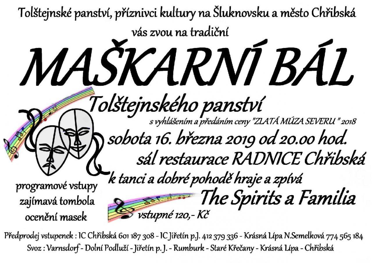 MAŠKARNÍ BÁL Tolštejnského panství 1